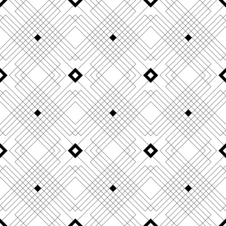 Photo for Seamless Square Line Pattern. Vector Black and White Texture - Royalty Free Image