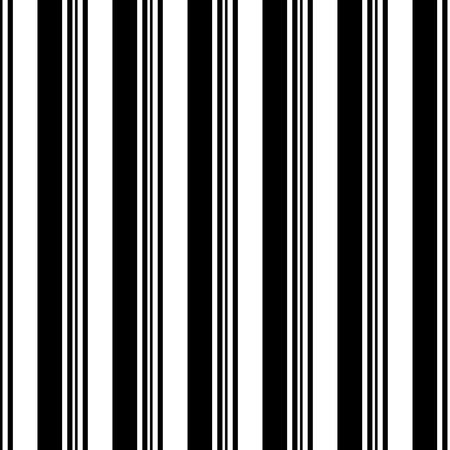 Ilustración de Seamless Vertical Stripe Pattern. Vector Black and White Background - Imagen libre de derechos