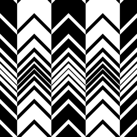 Illustration for Seamless ZigZag Pattern. Abstract  Monochrome Background. Vector Regular Texture - Royalty Free Image
