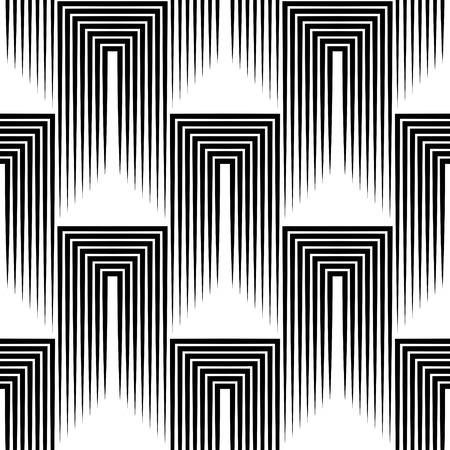 Ilustración de Seamless Square and Stripe Pattern. Abstract Monochrome Background. Vector Regular Texture - Imagen libre de derechos