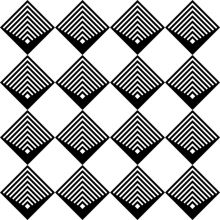 Illustration for Seamless Square Pattern. Abstract Black and White Background. Vector Regular Texture - Royalty Free Image
