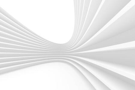 Foto de 3d Rendering of White Circular Building. - Imagen libre de derechos