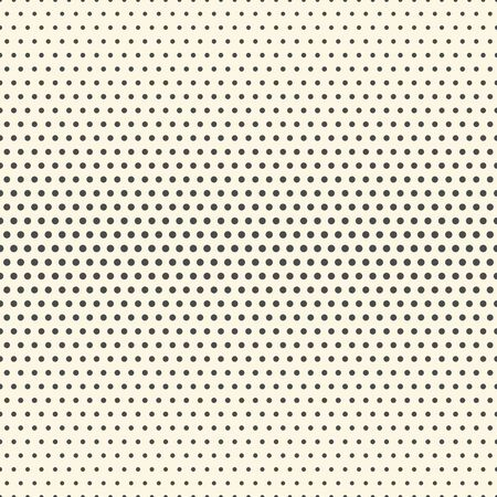 Illustration for Seamless Halftone Pattern. Minimal Elegant Wallpaper. Vector Monochrome Texture - Royalty Free Image