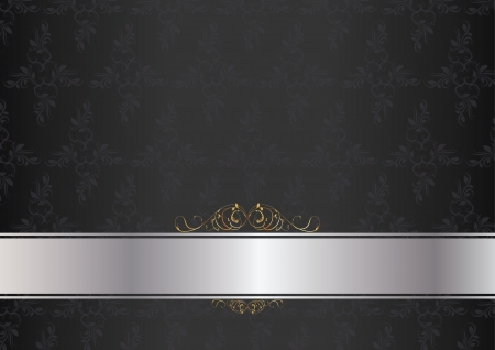 Luxury card dark with silver and gold insertion