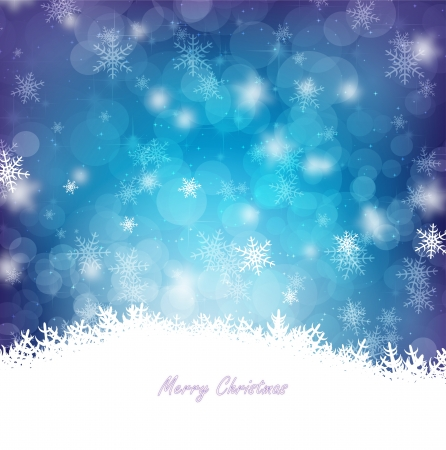 Magical Blue Christmas card