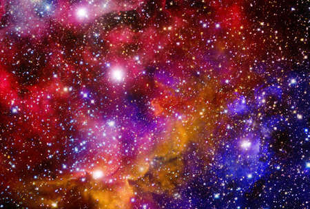Photo for Very realistic stellar field with nebulae - Royalty Free Image