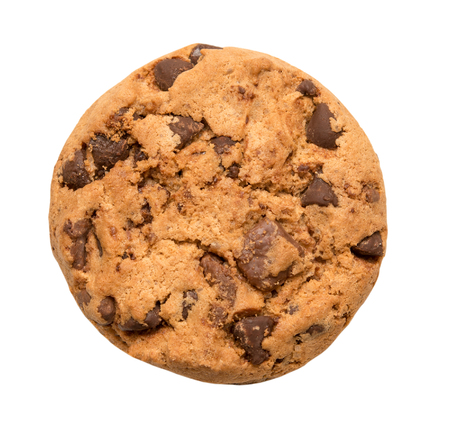 Photo for Chocolate chip cookie isolated on white - Royalty Free Image