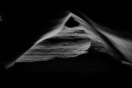 Photo pour Black and white shot Antelope Canyon Arizona USA - image libre de droit
