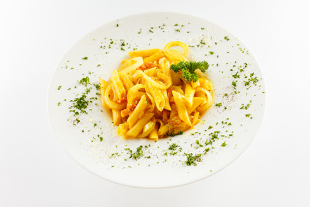 pasta isolated on the white