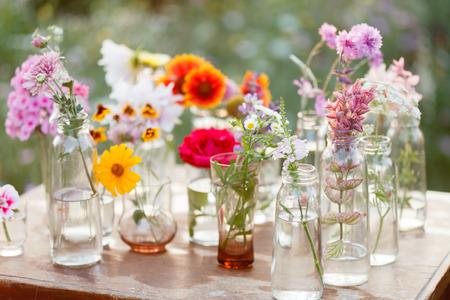 Photo pour nice flowers in the bottles - image libre de droit