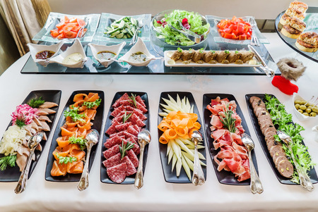 Foto per catering banquet table - Immagine Royalty Free