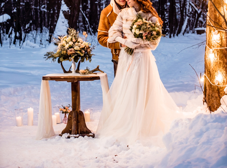 Photo pour winter wedding - image libre de droit