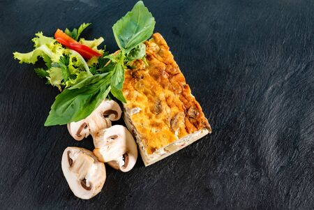 Photo for Vegetable casserole  on black - Royalty Free Image