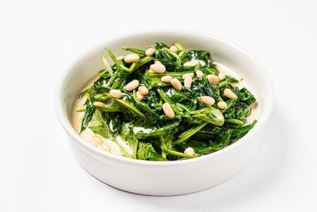 Photo for roasted spinach with creamy sauce - Royalty Free Image