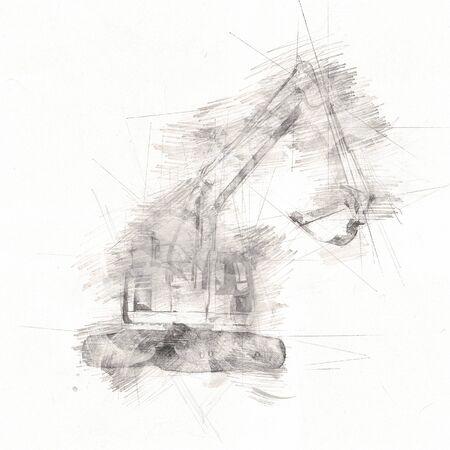 Photo pour Excavator  isolated art work - image libre de droit