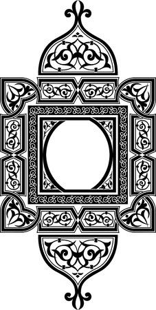Illustration pour Ornamental eastern design, monochrome - image libre de droit