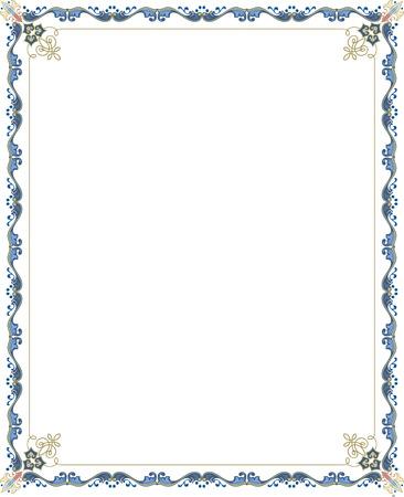Garnished vector frame, Colored