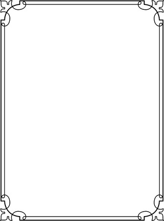 Simple lines, border frame, vector design