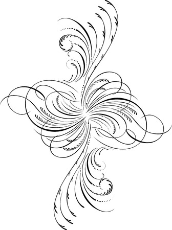 Illustration for Calligraphic Design Element and Page Decoration - Royalty Free Image