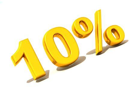ten percent. Gold. 3d
