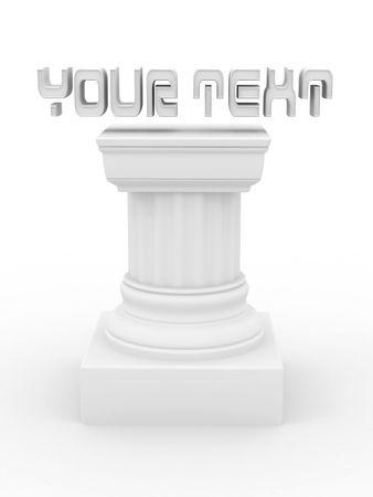 Pedestal. 3d
