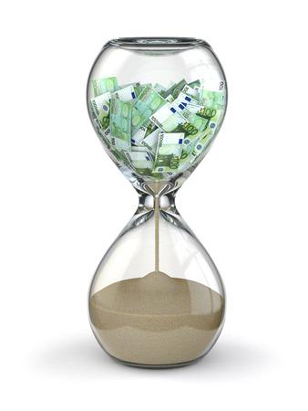 Hourglass and euro