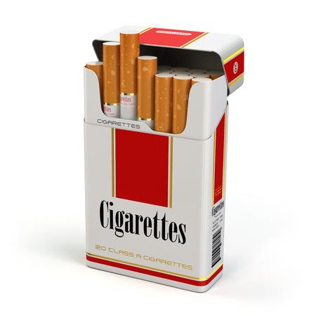 Foto für Cigarette pack on white isolated background. 3d - Lizenzfreies Bild