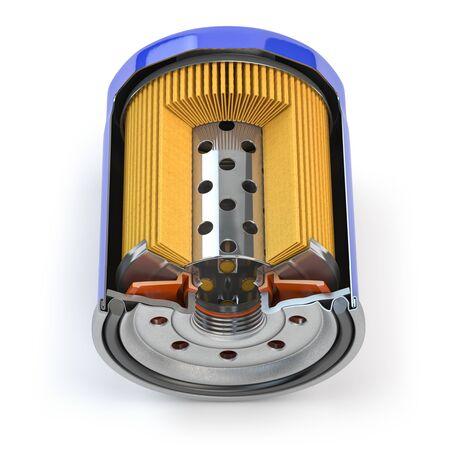 Photo pour Car oil filter isolated on white - image libre de droit