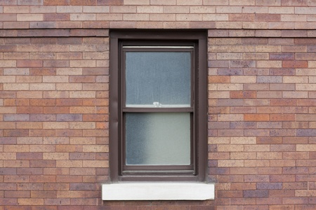 Traditional american window with metal frame