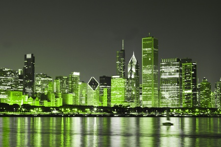 Chicago on St Patrick's Day