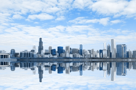 Windy City Reflection Mural Wallpaper