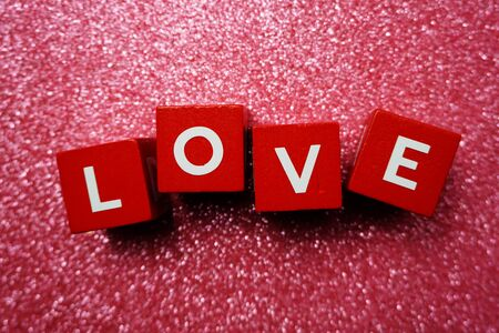 Photo for Love alphabet letter Valentine's Day background - Royalty Free Image