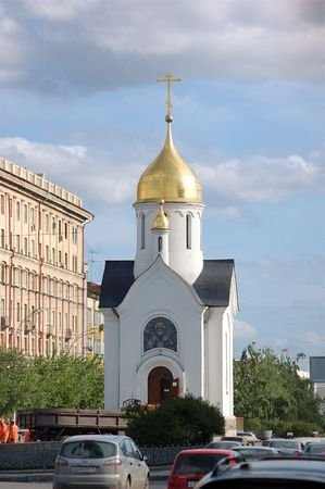 chapel located in Novosibirsk on the Red prospectus