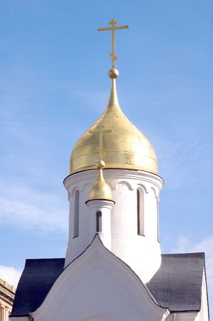 Dome of a chapel located in Novosibirsk on the Red prospectus