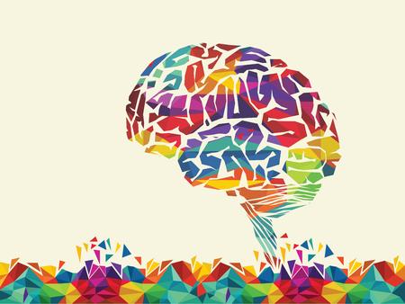 Illustration pour illustration of colourful brain - image libre de droit