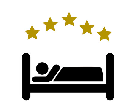 Five star Hotel apartment sign icon. Travel rest place. Sleeper symbol.