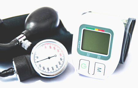 old and new version of blood pressure measuring device