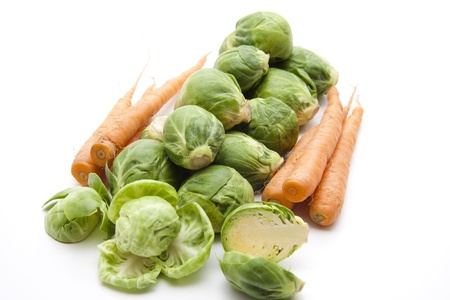 Brussels sprouts with carrots