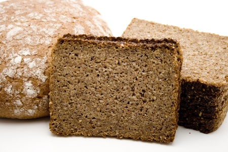 Wholemeal bread and wheat bread