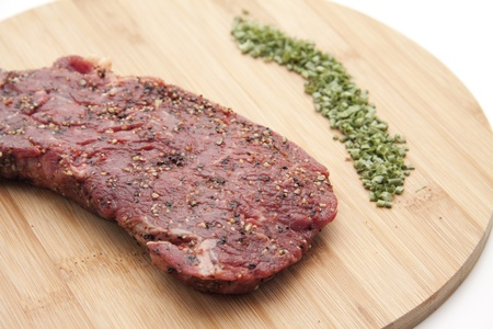 Pepper steak with herbs