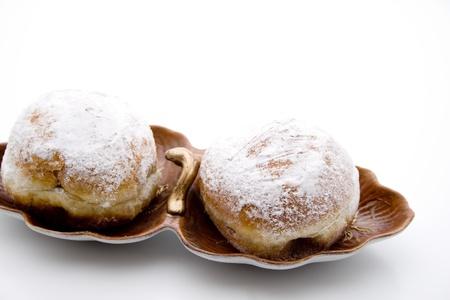 Doughnuts on cake peel