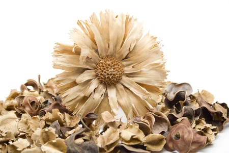 Straw flower on potpourri
