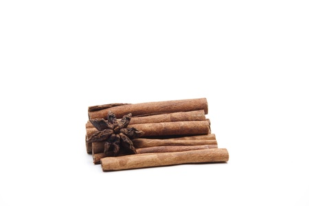 Cinnamon sticks with cinnamon star