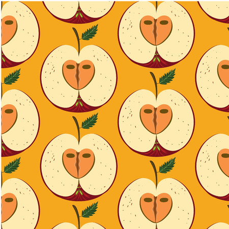 Illustration of a seamless fruit pattern tile