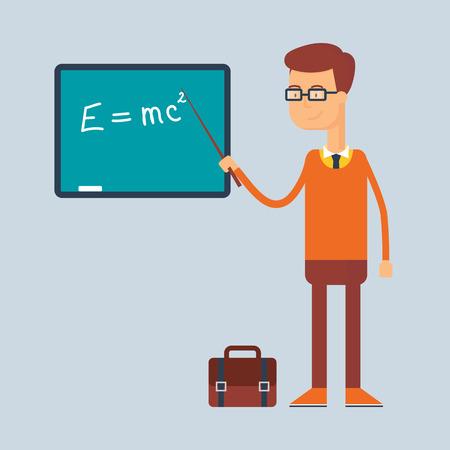 Character - teacher, education concept. Vector illustration, flat style