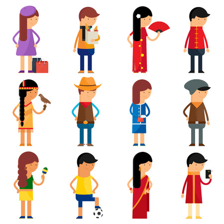 People nationality vector character set: Royalty-free vector