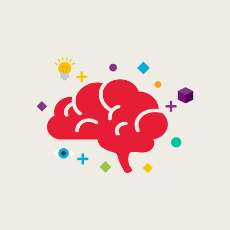 Illustration for Brain training vector illustration - Royalty Free Image