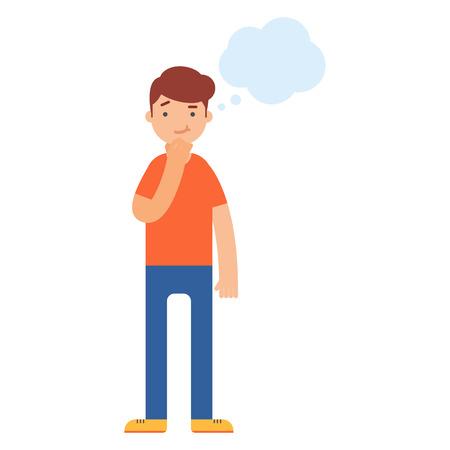 Illustration pour Man thinking vector illustration - image libre de droit