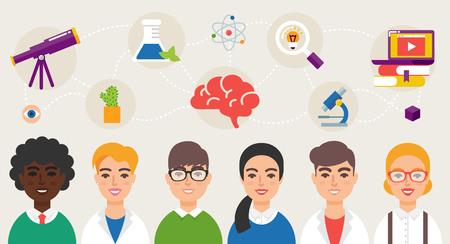 Illustration for Scientific community vector illustration - Royalty Free Image