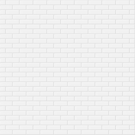 Illustration for White brick wall realistic background vector illustration - Royalty Free Image
